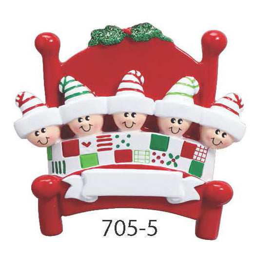 BED FAMILY OF 5 - Express Ornaments