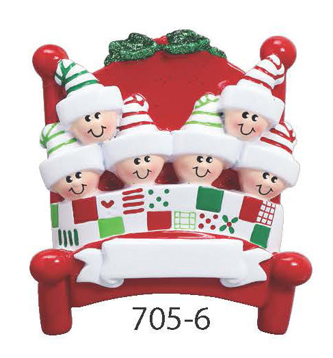BED FAMILY OF 6 - Express Ornaments