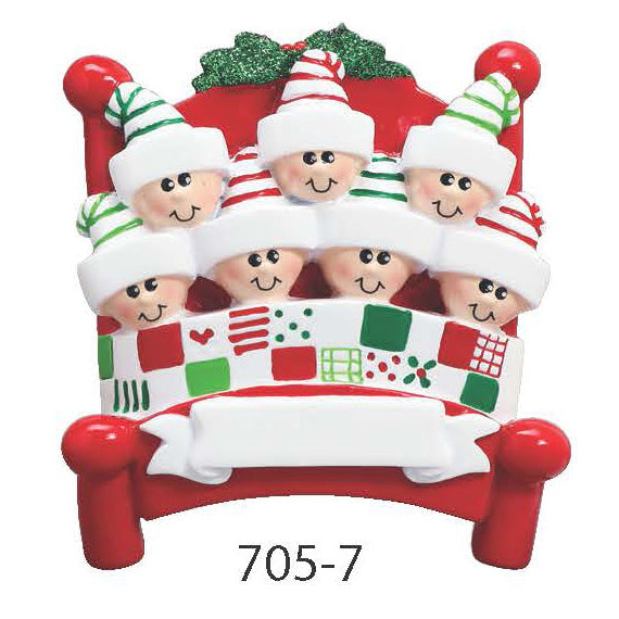 BED FAMILY OF 7 - Express Ornaments
