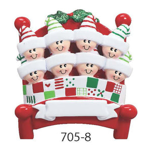 BED FAMILY OF 8 - Express Ornaments