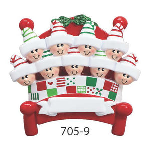 BED FAMILY OF 9 - Express Ornaments