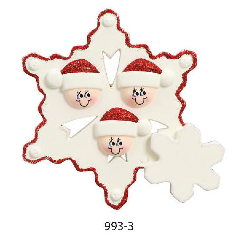 SANTA HATS FAMILY OF 3 - Express Ornaments
