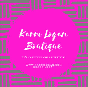 Karri Logan Boutique Popup logo culture lifestyle expression confidence