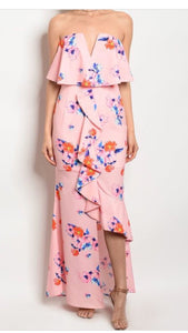 The Chloe Ruffled Flower Dress