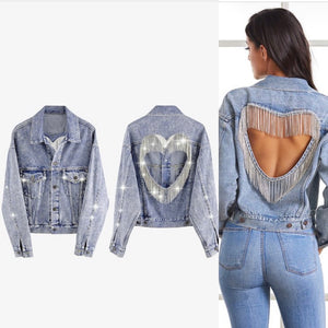 The Luv me denim jacket