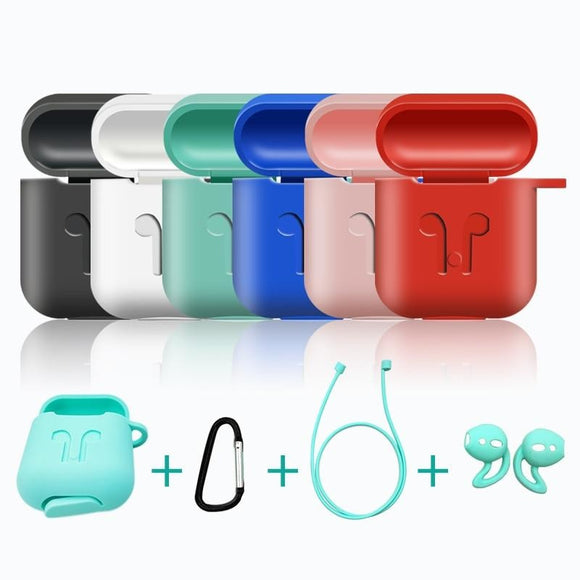 AirPods Case Protective Silicone Cover Case Shockproof Set
