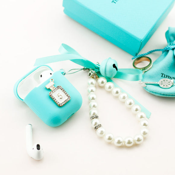 Elegant Pearls and Crystals Airpods Case