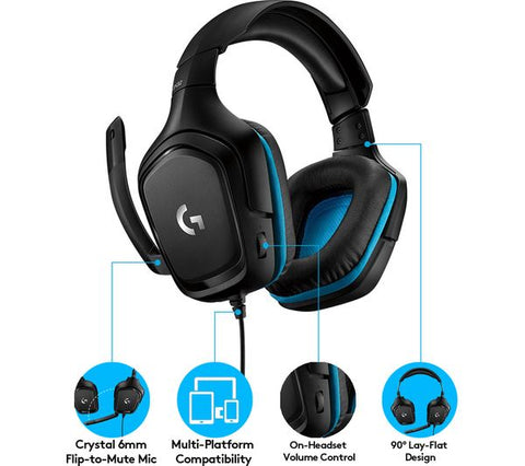 Logitech G432 headphones.