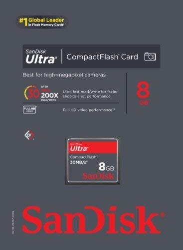 Sandisk 8gb Ultra Compact Flash CF memory card 30mb/S