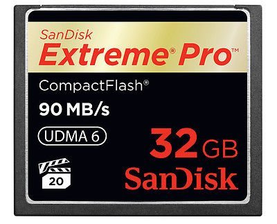 Sandisk Extreme PRO 32GB  90mb/s Compact Flash CF memory card