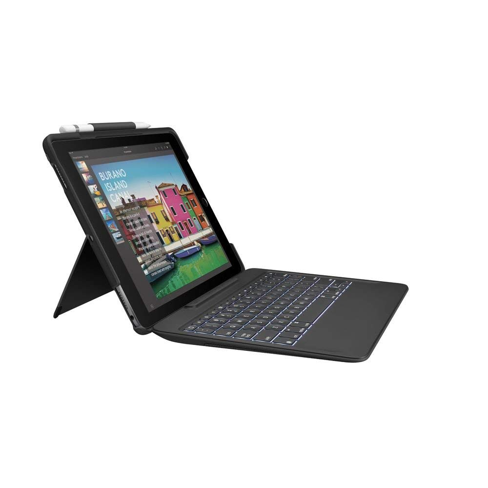Logitech SLIM COMBO iPad Pro 10.5-inch Keyboard Case BLACK UK QWERTY layout