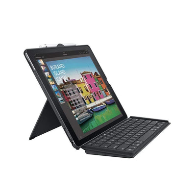 Logitech SLIM COMBO iPad Pro 12.9-inch Keyboard Case QWERTY BLACK UK LAYOUT