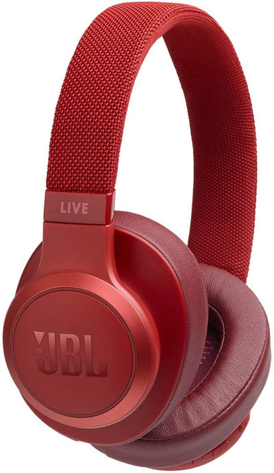 JBL Live 500BT Wireless Over-Ear Headphones - Red
