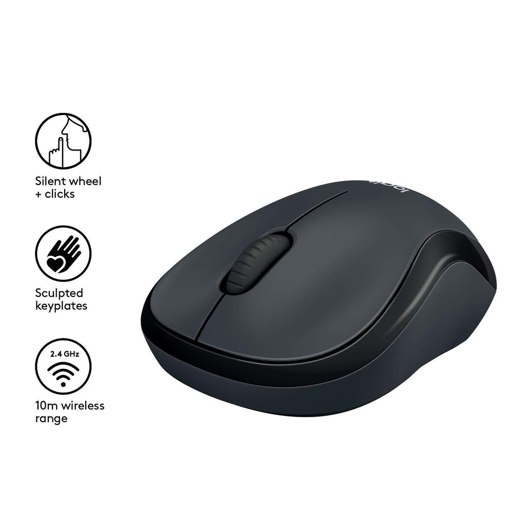 Logitech M220 Ambidextrous Wireless Silent Mouse Optical Laser, USB for Windows