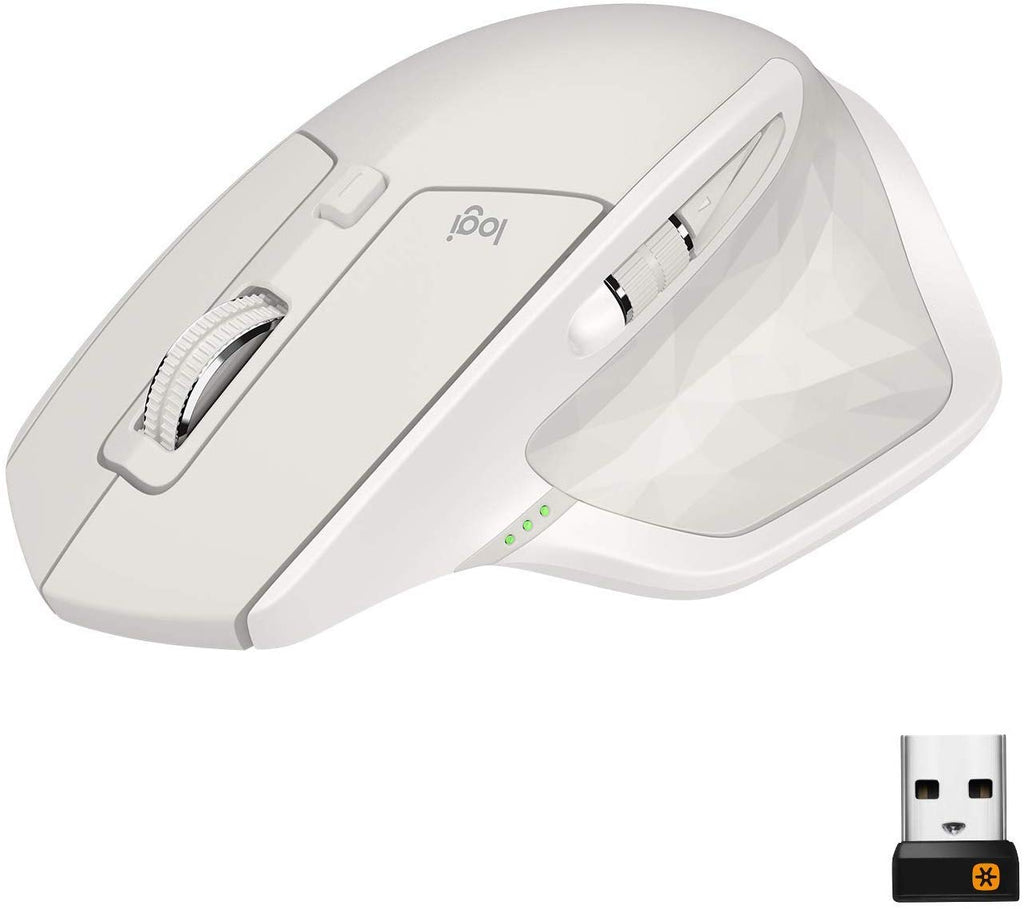 LOGITECH MX Master 2S Wireless Bluetooth Unifying Mouse - Light Grey