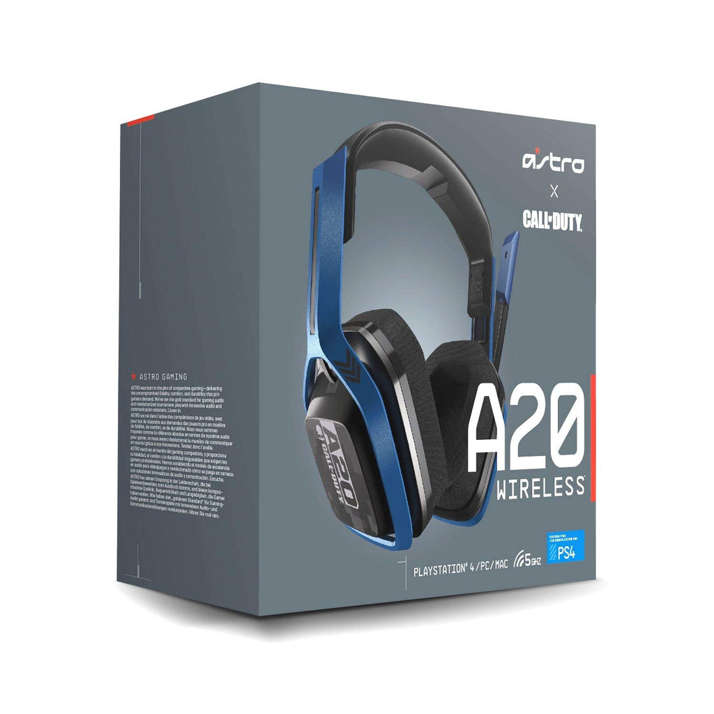 ASTRO Gaming A20 Wireless Call Of Duty Edition Headset Compatible with PlayStation 4, PC, Mac, Navy/Black