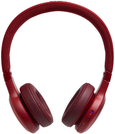 JBL Live 400BT On-Ear Wireless Headphones - Red