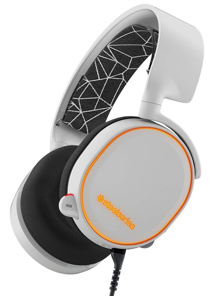 SteelSeries Arctis 5, RGB Illumination Gaming Headset, DTS 7.1 Surround WHITE