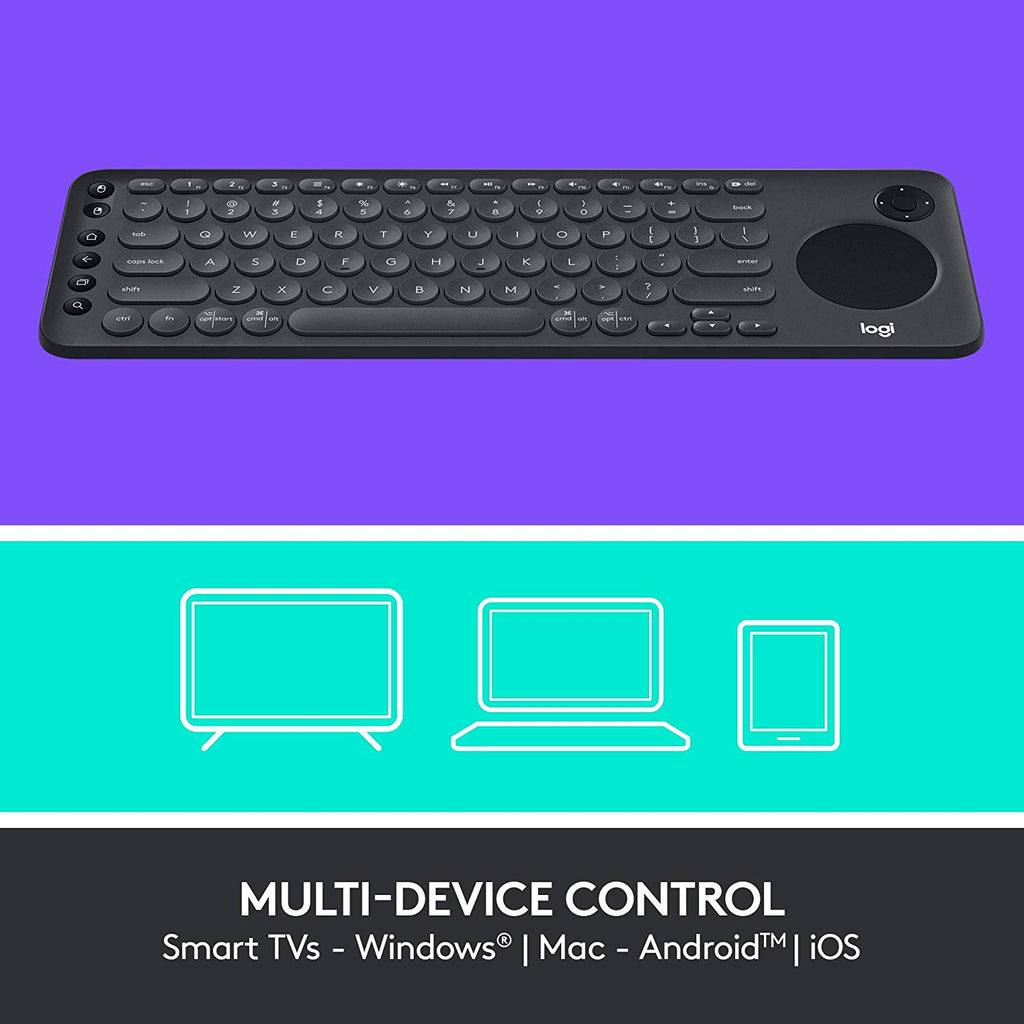 Logitech K600 TV - TV Keyboard with Integrated Touchpad and D-Pad Compatible with Smart TV US LAYOUT