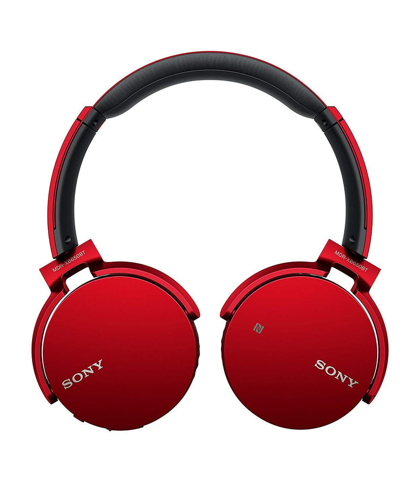 Sony MDR-XB650BT Bluetooth Headphones RED