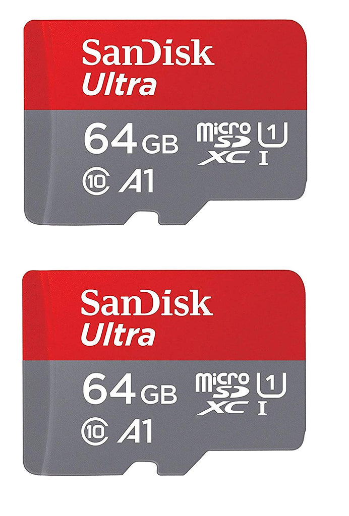 SanDisk Ultra Plus 64GB microSDXC UHS-I Card up to 100 MB/S ( 2 Pack)