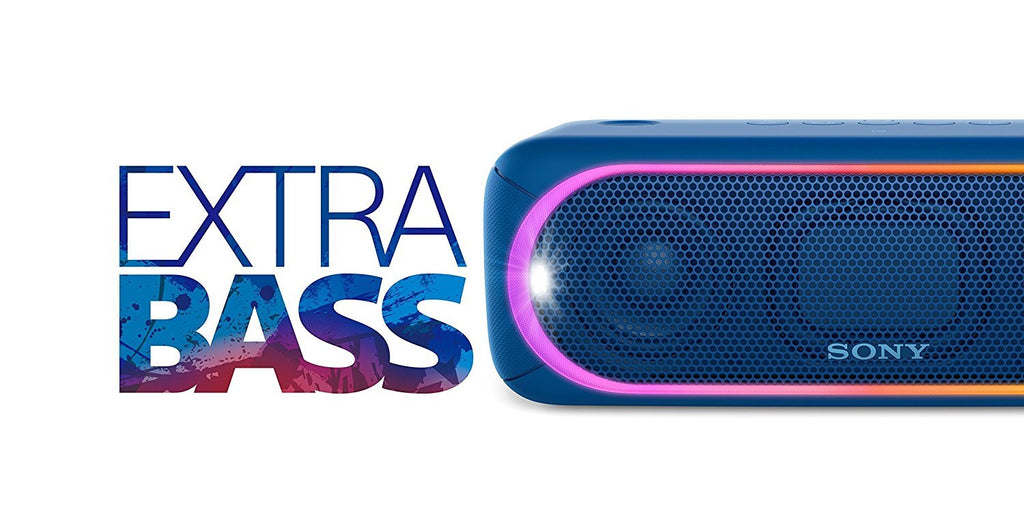 Sony SRS-XB30 Portable Wireless Speaker with Extra Bass and Lighting BLUE !A - Fatbat UK