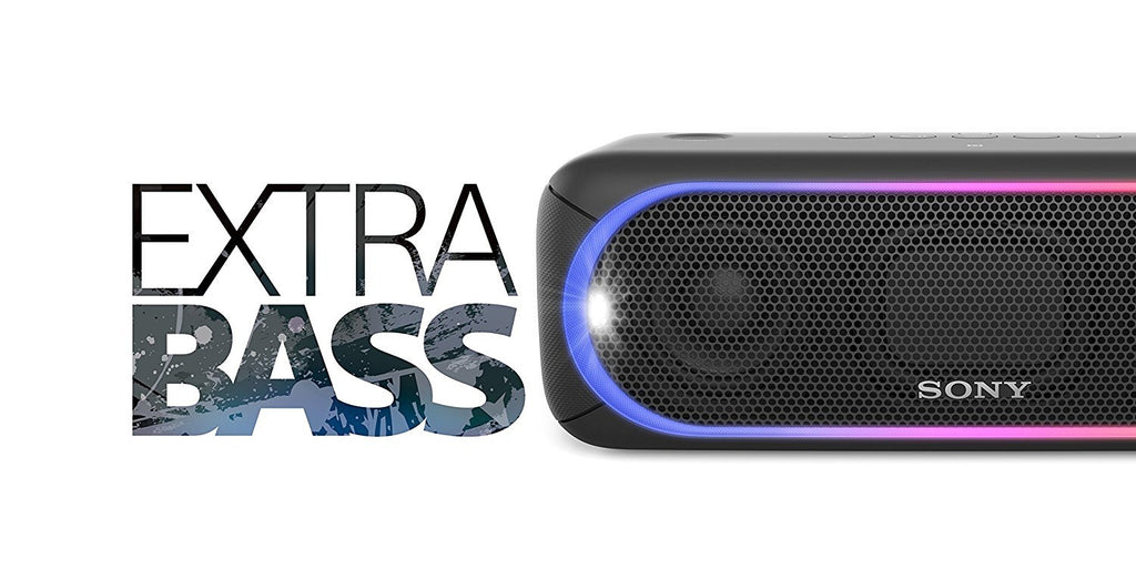 Sony SRS-XB30 Portable Wireless Speaker with Extra Bass and Lighting Black !A - Fatbat UK