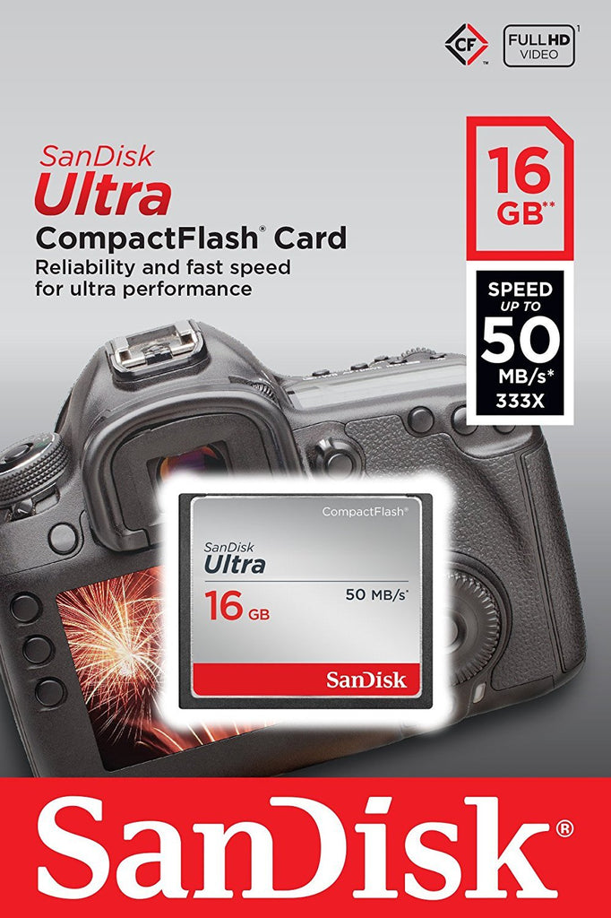 Sandisk Ultra 16GB Compact Flash Memory Card