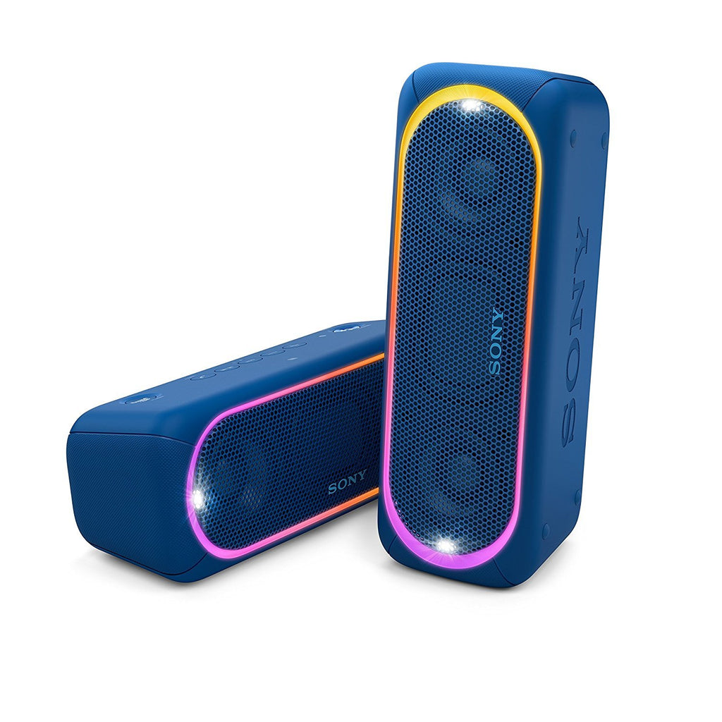 Sony SRS-XB30 Portable Wireless Speaker with Extra Bass and Lighting BLUE !B - Fatbat UK