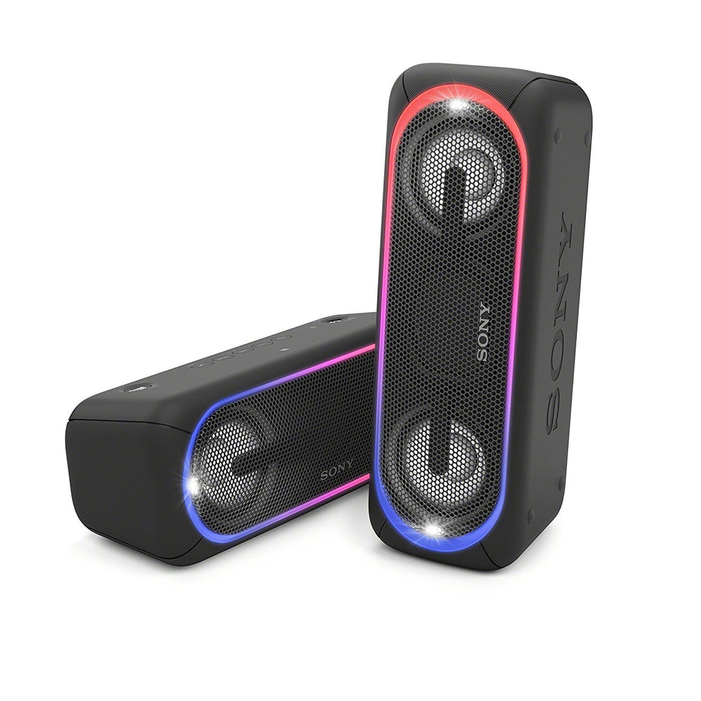 Sony SRS-XB40 Portable Wireless Speaker with Extra Bass and Lighting Black !A - Fatbat UK