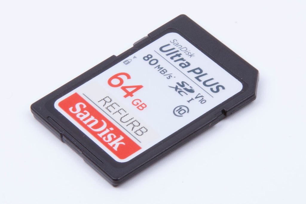 SanDisk Ultra Plus 64GB SDXC 80mb/s SD memory card