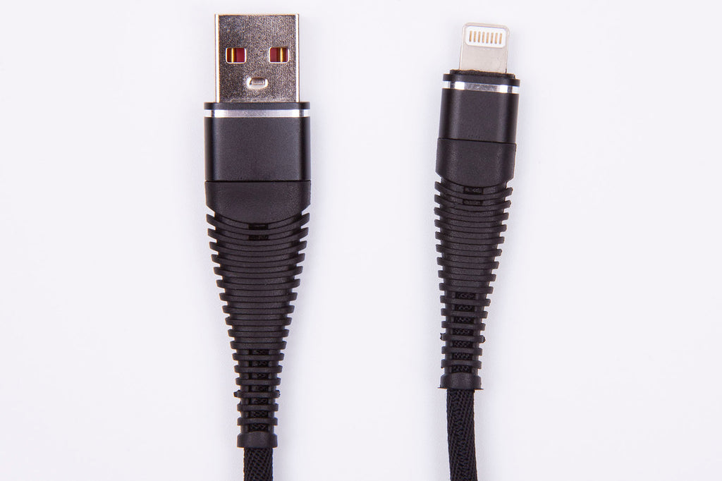 Black Stork Charging cable for APPLE iPad / Iphone Lightening Braided Black