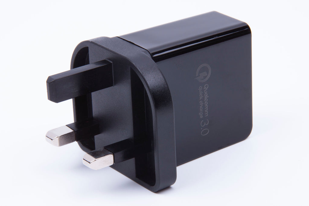 BlackStork UK Fast Charger QC 3.0 USB 18W Quick Wall Charger Black