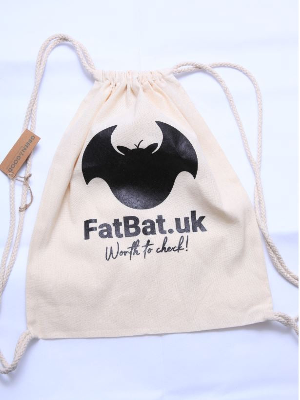 FatBat Linen Eco Drawstring Bag - Natural