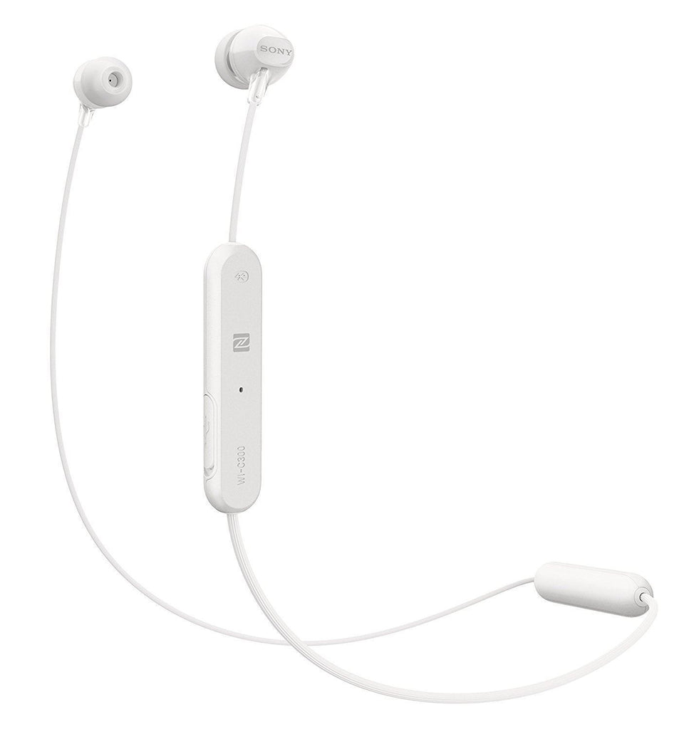 Sony WI-C300 Bluetooth NFC Wireless In-Ear Headphones with Mic Remote, White