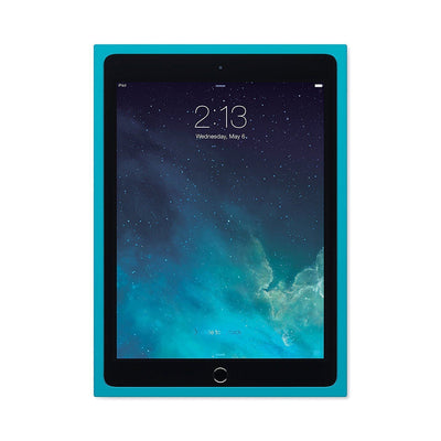 LOGITECH BLOK Protective Shell for iPad Air 2 Teal Blue DROP PROTECT over case