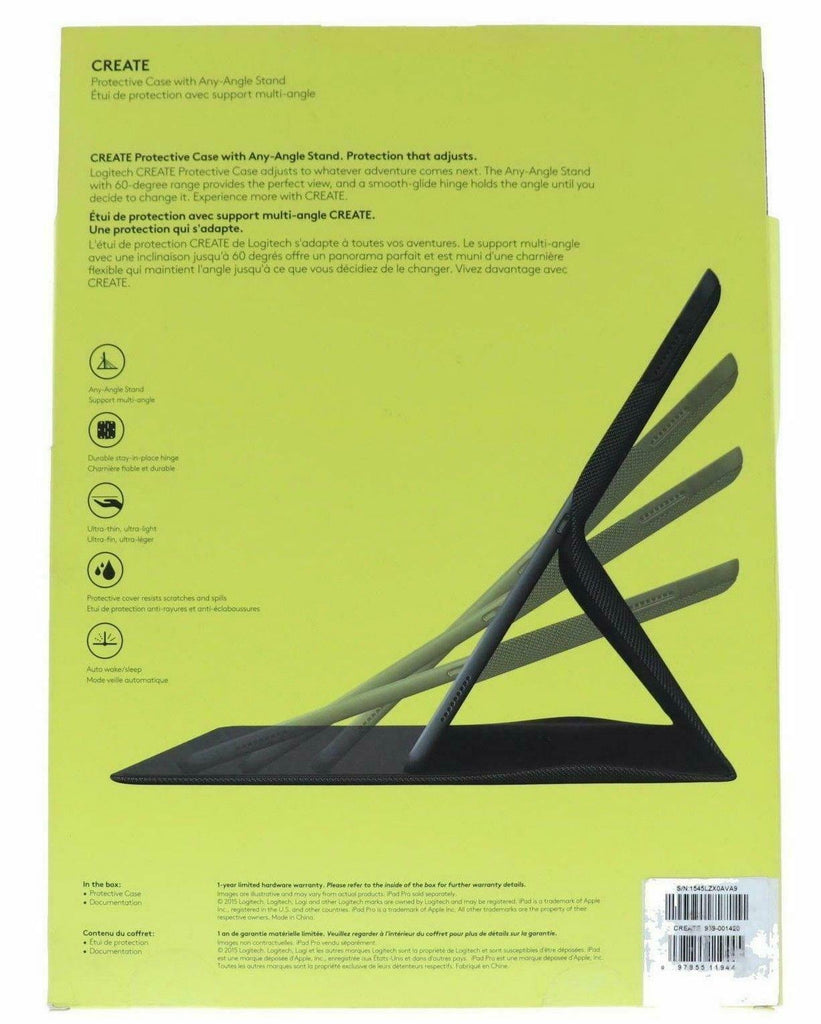 Logitech Logi Create Stand case folio for iPad Pro 12.9 1st and 2nd gen