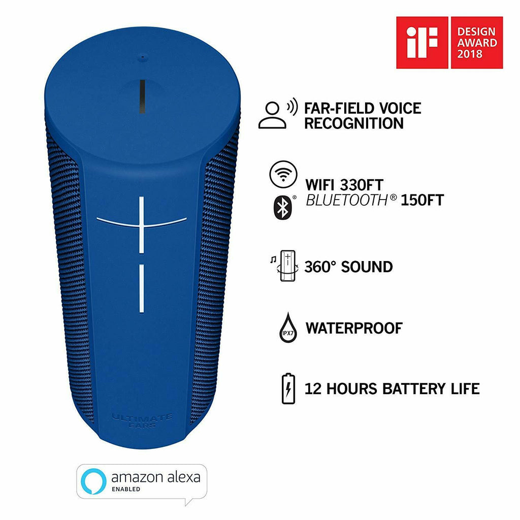 Ultimate Ears Blast Loud Bluetooth WI-FI Waterproof Speaker Alexa Voice control