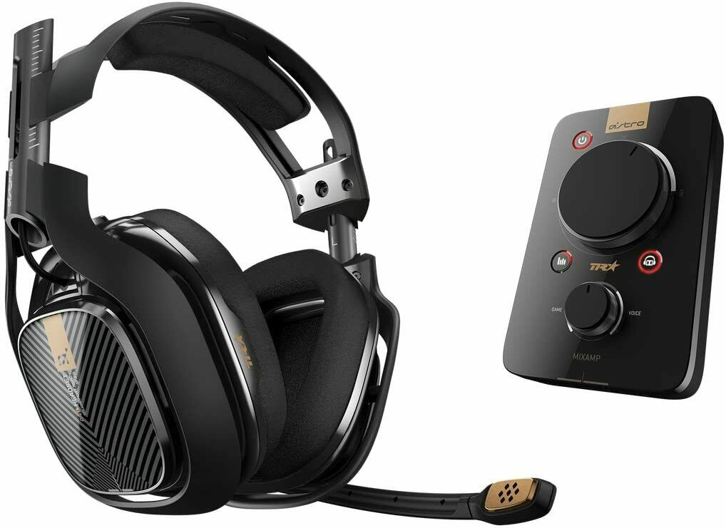ASTRO A40TR Gaming Headset & MixAmp Pro TR Headset Amplifier for PS4/PC - black