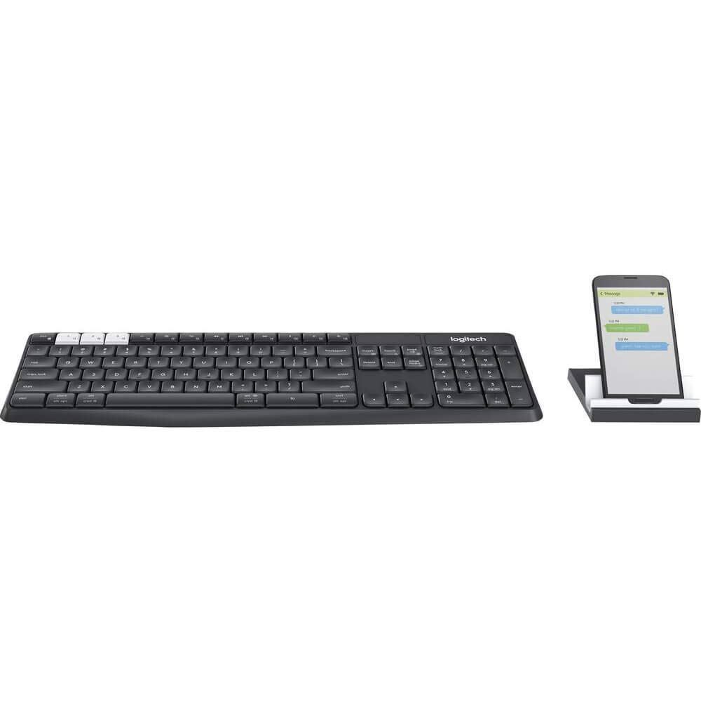 Logitech K375s MultiDevice Wireless Keyboard and Stand Combo Bluetooth Unifying
