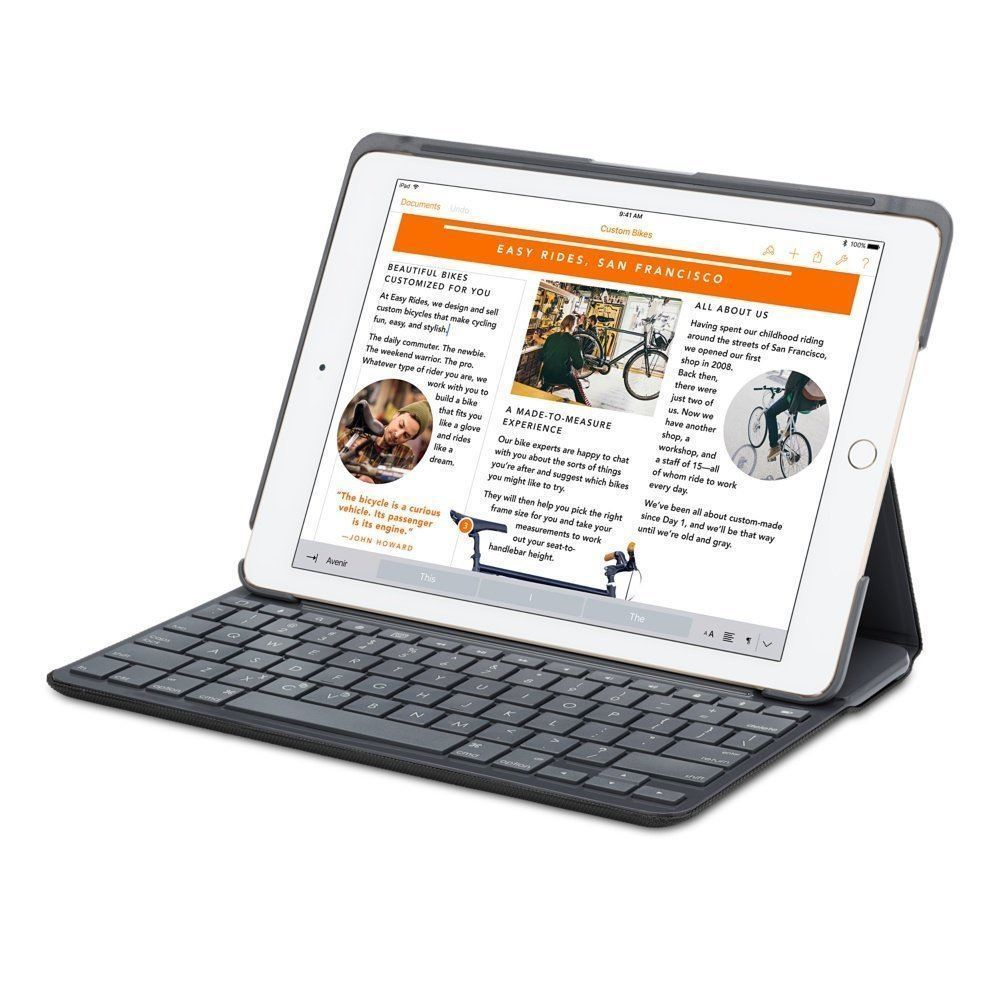 Logitech Canvas Keyboard Case for iPad Air 2 - Black - FRENCH AZERTY LAYOUT