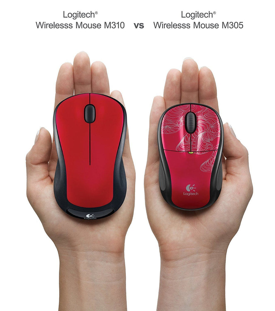 Logitech M310  Wireless Optical Mice - with USB nano receiver Red