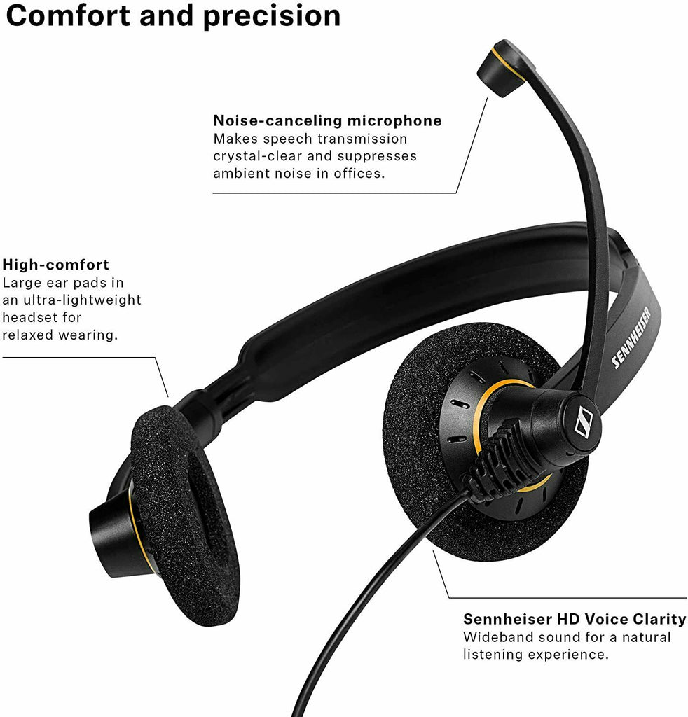 Sennheiser SC 60 USB ML Dual Headset Black