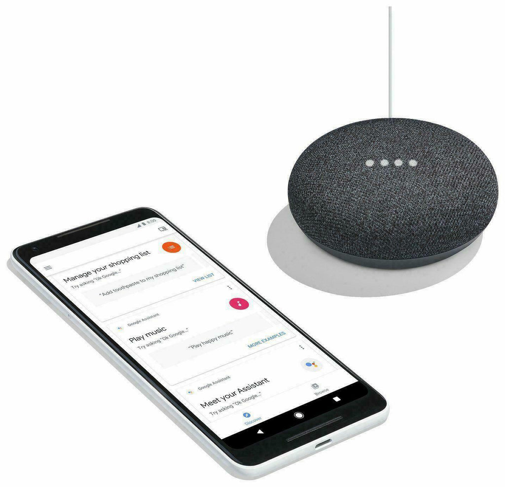 Google Home Mini Wireless Bluetooth Speaker Google Assistant - Charcoal