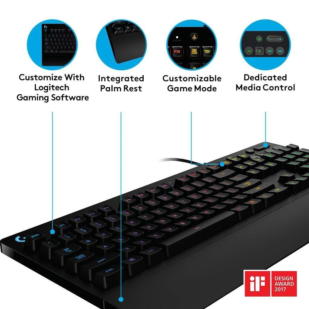 Logitech G213 Prodigy Wired Gaming Keyboard RGB Lighting Backlit UK LAYOUT