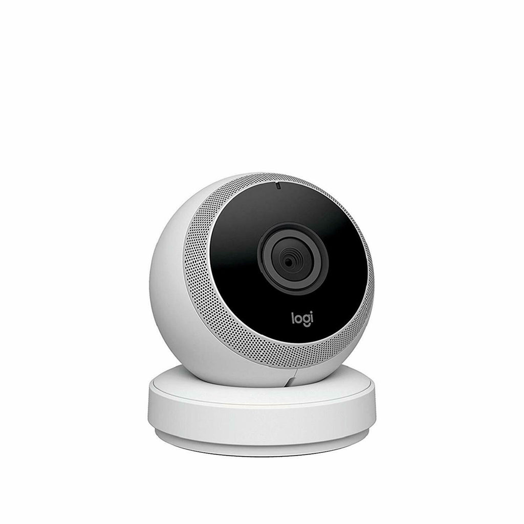 Logitech Circle Wireless HD Video Security Camera with 2 way talk WIFI -WHITE