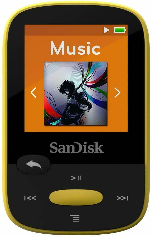 SanDisk Sansa Clip+ Sport 8GB Digital Media Player MP3 YELLOW