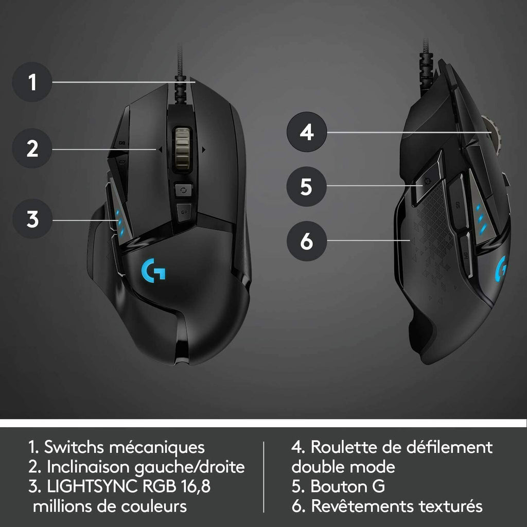 Logitech G502 Hero Wired Mouse
