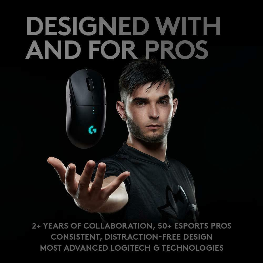 Logitech G PRO RF Wireless Optical 16000 DPI Gaming mice GPRO Led 8 buttons
