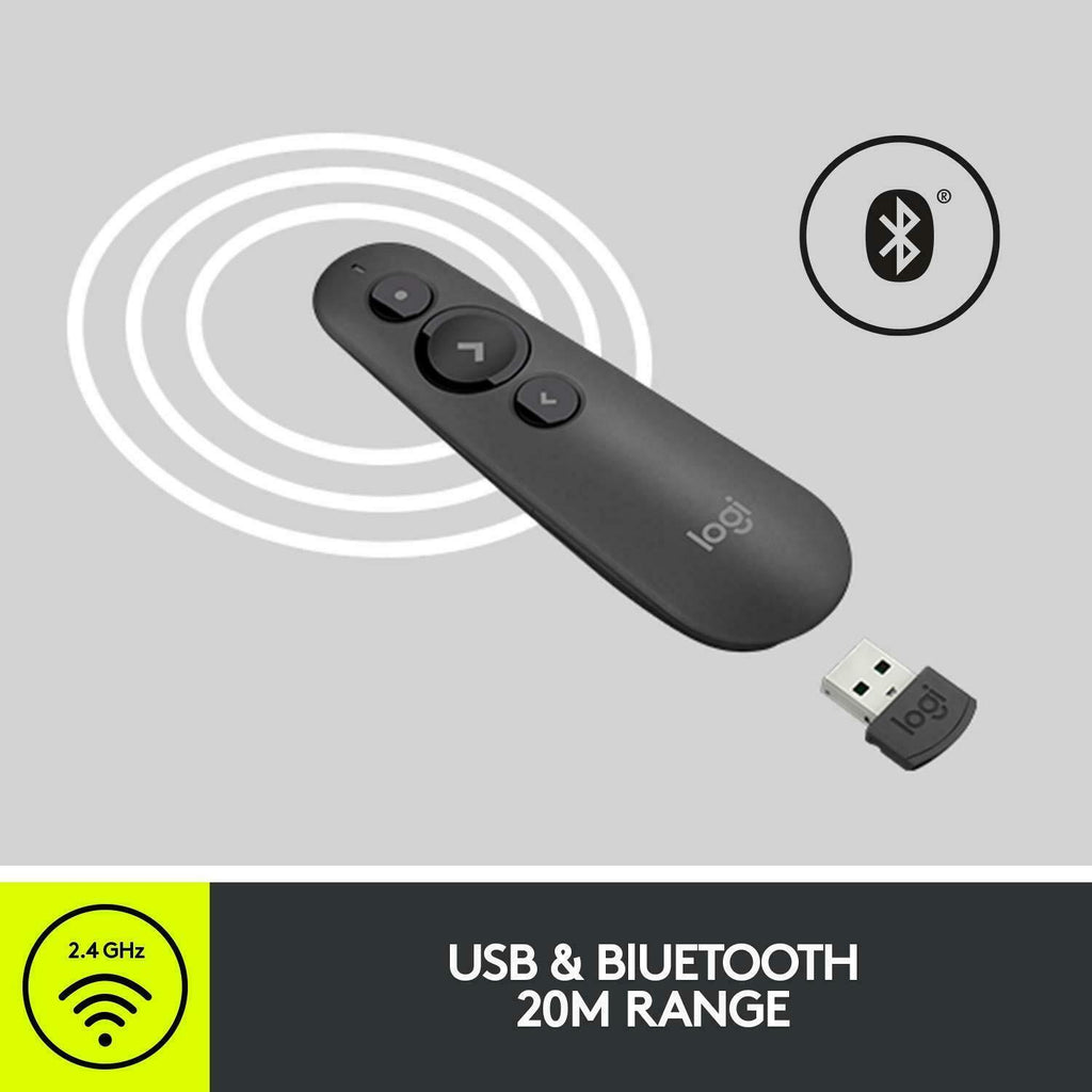 Logitech R500 Bluetooth and USB Laser Presenter Remote